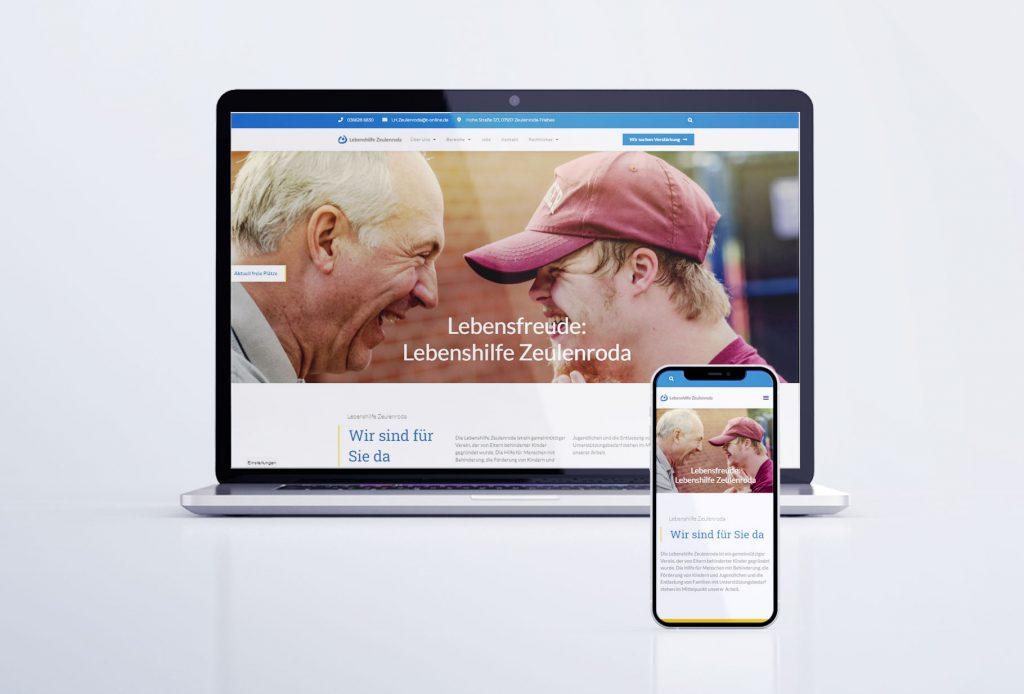 Webseite der Lebenshilfe Zeulenroda