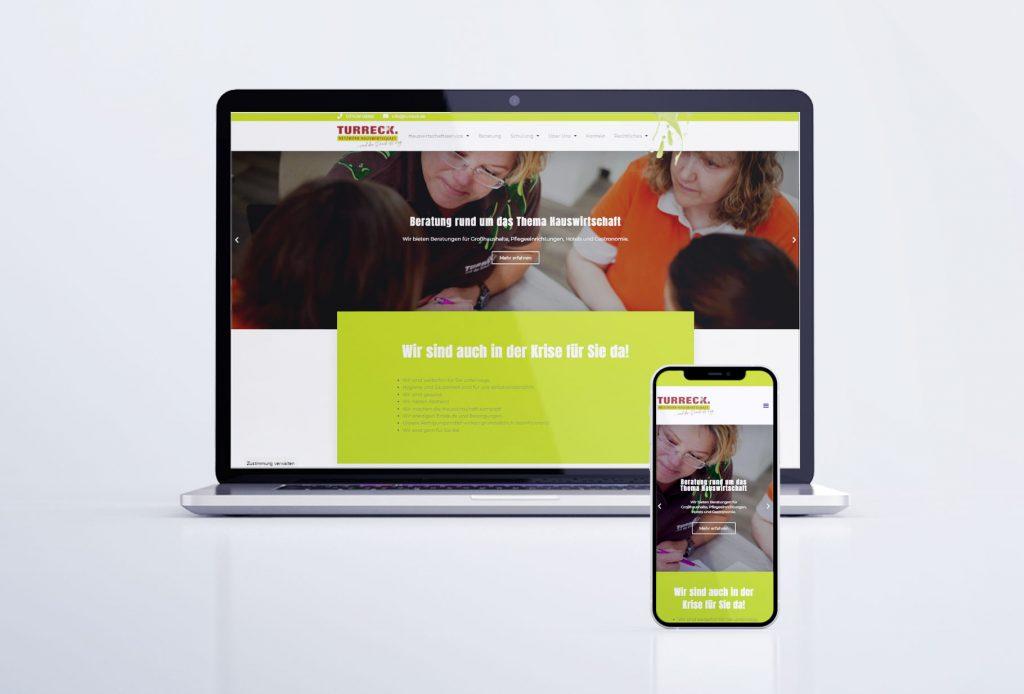 """Webseite """"Turreck - Netzwerk Hauswirtschaft"""" Pöhl"""